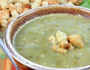 Суп пюре из фасоли и гороха