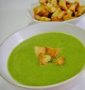 Суп пюре из замороженного горошка