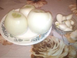 Филе щуки с добовлением сала чеснока и лука