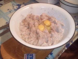 Фарш с добовлением яиц