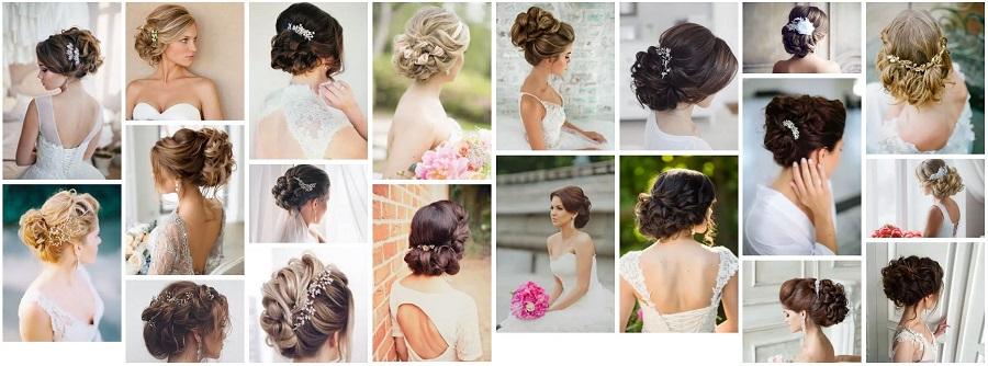 прически невест убранные волосы