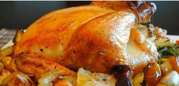 Курица запеченная с картошкой в духовке целиком рецепт с фото