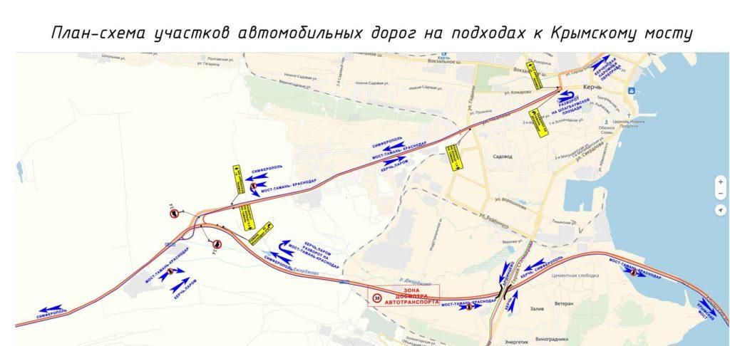 План схема к крымскому мосту