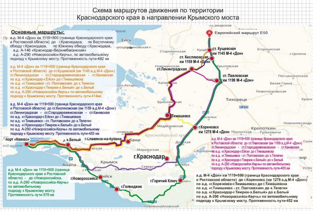 Схема движения к крымскому мосту
